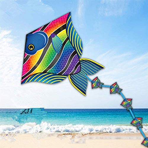 Original Kite, Kids Kite Fun Kites For Kids Easy To Fly With Outdoor Sports Hand Line Tropical Fish Lizard Kites Easy to fly (Color : Lizard with line) plm46 (Color : Fish With Line)