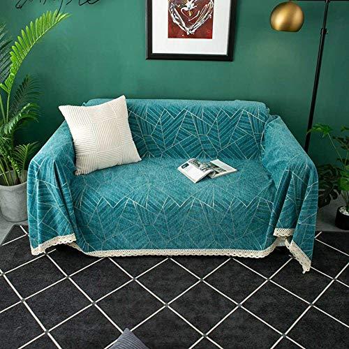 Toalla de sofá de cubierta completa de chenilla espesada personalidad cuadrada antideslizante Four Seasons Toalla de cubierta de sofá Universal elástica adaptable/A / 180 * 150cm