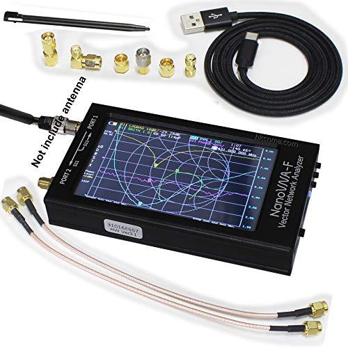 NanoVNA-F Vector Network Analyzer SWR Meter Smith【Upgraded】 Hardware V3.1,10KHz-1.5GHz 4.3 Inch IPS TFT Shortwave MF HF VHF Portable Handheld Antenna Analyzer