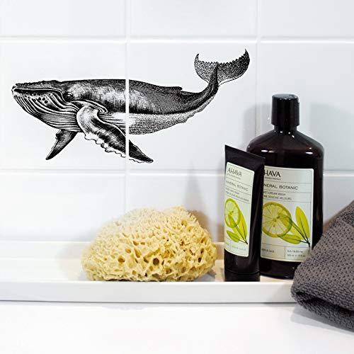 Boubouki - Wasserabweisende Fliesenaufkleber für Bad und Küche - Fliesen-Aufkleber, Kacheln in allen gängigen Größen - David Poster - 15x15cm, Transparent