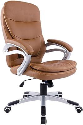 オフィスの上司の椅子研究室の執筆椅子会社のスタッフの椅子美しいコンピュータの椅子リビングルームのアームレストのラウンジチェア (Color : BLACK, Size : 67CM*67CM*118CM)