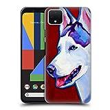 Head Case Designs Officiel DawgArt Sibérien Enroué Chiens Coque Dure pour l'arrière Compatible avec Google Pixel 4 XL