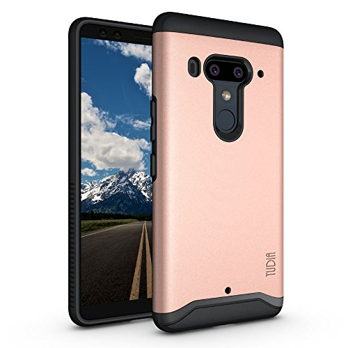TUDIA HTC U12 Plus/HTC U12 + (2018) Hülle, Slim-Fit Merge Dual Layer Schutzhülle für HTC U12 Plus/HTC U12 + (2018) (Rose Gold)
