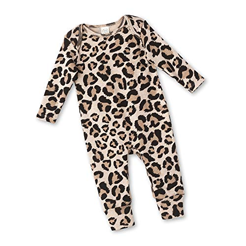 Tesa Babe Baby Girl Boy Unisex Romper Gift with Cheetah Leopard Print for Newborn Infant Girls, Boys (Leopard, 0-3 Months)