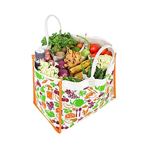 Dussle Dorf Reusable Large Duty Waterproof Shopping Bags Kitchen Essentials/Grocery Bag/Vegetable Bag / Carry Bag/thela with Full Handles Best Gift for diwali (Pack of 1)