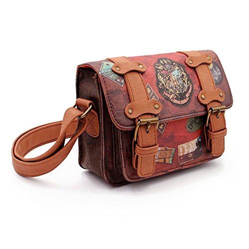 Karactermania Harry Potter Railway-Satchel Shoulder Bag Umhängetasche, 20 cm, Braun (Brown)