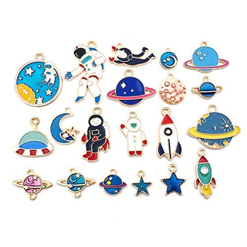 SWECOMZE Charms Pendant, Moon Star Jewellery Pendant, Necklace Bracelet Charms for DIY Jewellery Craft Making (24 PCS/20 PCS) (B-20 PCS)