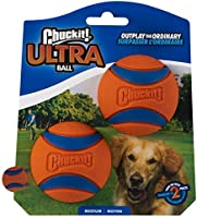 Chuckit! 17001 2.5-Inch Ultra Ball 2 Pack, Medium, Orange/Blue