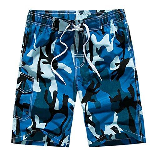ZHANGJZJ Camouflage Board Shorts Men Boardshorts Men's Beach Shorts for Swimming Surf Swimsuit Man Swimwear