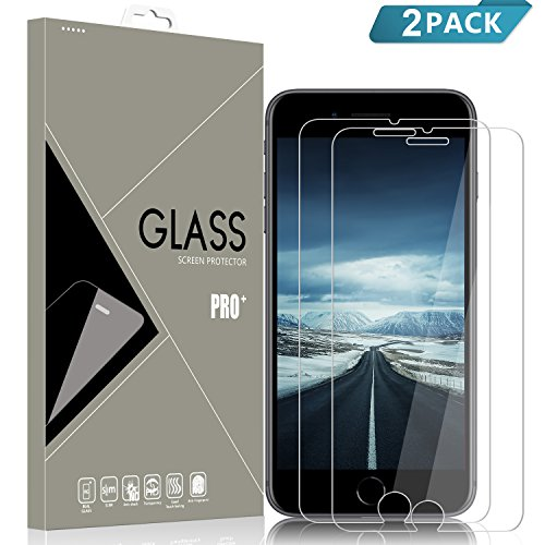 AZION iPhone 8 Plus/7 Plus Screen Protector[2 Pack], Bubble Free, 9H...