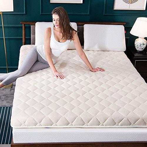 zyl Tapete de colchón de Tatami Suave Almohadilla de Dormir portátil y Transpirable Cubierta de colchón Enrollable de futón Grueso para Acampar en el Dormitorio (Color: B Tamaño: 150x190cm (59x7
