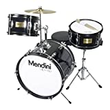 Mendini by Cecilio 16 inch 3-Piece Kids/Junior Drum Set with Adjustable Throne,...