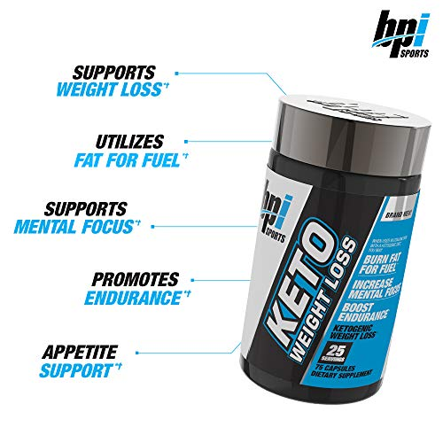 BPI Sports Keto Weight Loss - Ketogenic Fat Burner - Keto Weight Loss Pills - Raspberry ketones - Supports Mental Focus - Promotes Endurance - Burn Fat for Fuel - 75 Capsules 6