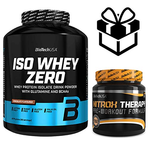 Iso whey zero + nitrox therapy 2,27 kgs chocolate
