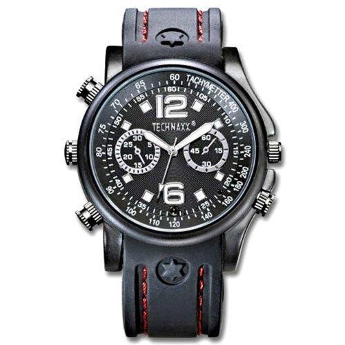 Technaxx Actionmaster - Reloj de Pulsera con cámara integrada de 4 GB, Color Negro