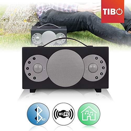 'Tibo Sphere 2Altavoz portátil Bluetooth/WiFi para iOS/Android, Color Negro
