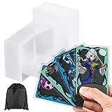 Zonon 1200 Pièces Pochettes de Cartes Pochettes de Cartes à Jouer Transparents Doux Manchons de Protection de Cartes pour Cartes de Baseball, Cartes à Collectionner (3-1/2 x 4-1/2 Pouces)