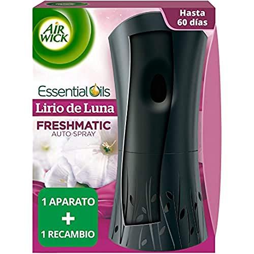 Air Wick Ambientador Freshmatic Completo Lirio de Luna y Satén de Seda, Aparato