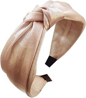 Bodhi2000 - Cerchietto per capelli da donna, in tinta unita, lucido, con croce larga