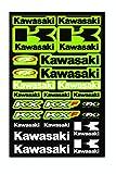 Kit Pegatinas ADESIVI Kawasaki KX KXF PATROCINADOR Moto Compatible para Honda Cross Enduro Casco(40)