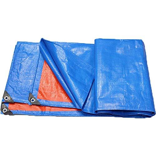 ZXL Tarpa Tarpaulin - Camping Tarp Tarps Zonnebrandcrème Awning Doek, Outdoor Sun Protection Poncho, Regen Cover Verdikking FENPING (Kleur: Oranje Blauw, Maat: 4 * 4m) 5 * 5m Blauw Oranje