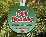 """None-brands Adorno navideño de Navidad 2020 con texto en inglés """"Best Buddies Friends"""", personalizab..."""