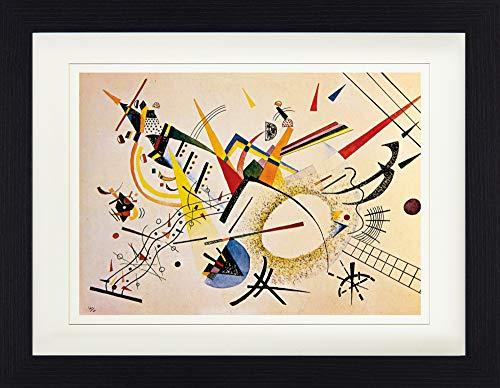 1art1 Wassily Kandinsky - Komposition, 1922 Gerahmtes Bild Mit Edlem Passepartout | Wand-Bilder | Kunstdruck Poster Im Bilderrahmen 40 x 30 cm