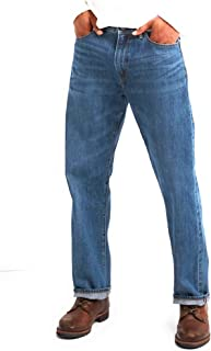 GAP Men's Jeans in Relaxed Fit, Medium Authentic Indigo Wash, Non-Stretch