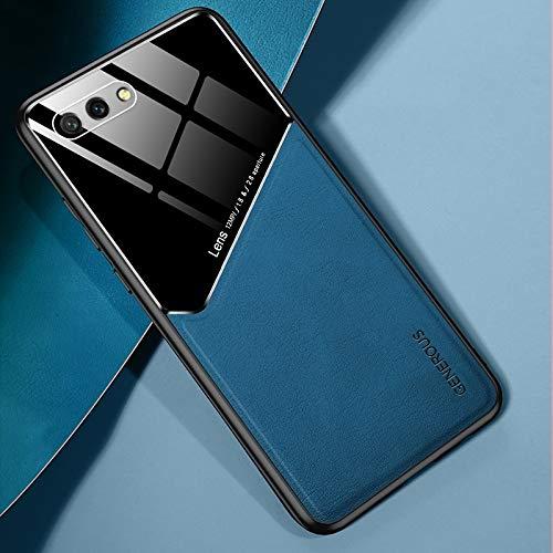 para Huawei Honor 10 Cuero Todo Incluido + Funda Protectora de Vidrio orgánico con Chapa de Hierro metálico (Color : Royal Blue)