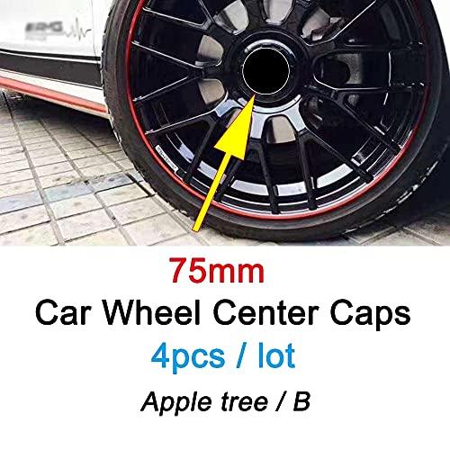 4 Piezas 75mm De Tapas Rueda Centro Tapacubos De ABS Para Mercedes Benz AMG Apple Tree BRABUS Styling,La Rueda Logo Insignia Coche Accesorios