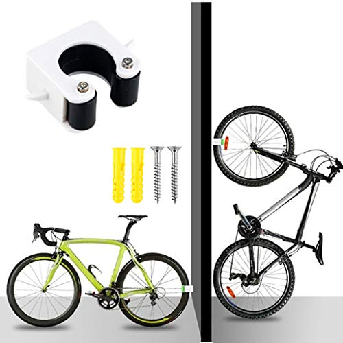 Konooy Garage Bike Storage, Bike Wall Mount, Bike Nook Rack Garage Vertical Wall Mount Bike Clip Hanger System Indoor Outdoor Wall-Mounted for Road & Mountain Bicycle Storage (Road Bike-Black)