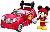Fisher-Price disney mickey y el roadster corredores, 2-en-1 hot doggin' del coche de carreras