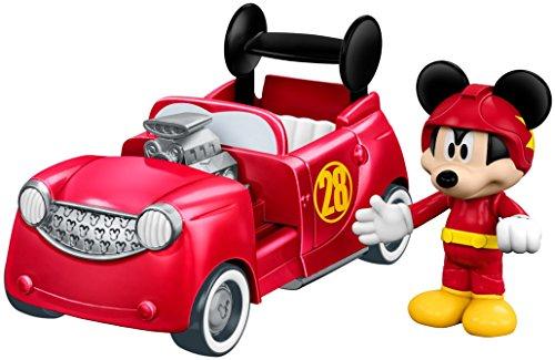 Fisher-Price disney mickey y el roadster corredores, 2-en-1 hot doggin\' del coche de carreras