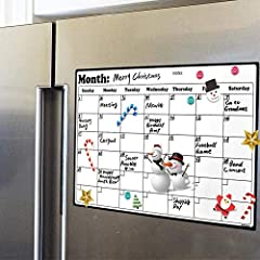 """LONG LASTING STAIN RESISTANT PERFORMANCE: With edge cutting material science, this fridge calendar has a stain resistant high-performance PET surface. You can erase for countless times without any smudgy """"ghosting"""" or staining TEACH SMART HABITS FROM..."""