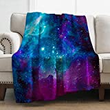 Levens Galaxy Space Blanket Smooth Soft Print Throw Blanket for Women Girl 50'x60'