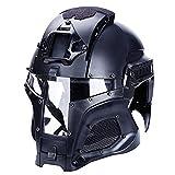 Tactical Helmet Outdoor Retro Protection Schnelle Vollgesichtsmaschenbrille mit Schutzbrille,...