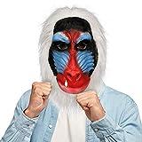 molezu Madagaskar Pavian Maske, Der König der Löwen Rafiki Kostüm Latex Masken, Dschungeltiere...