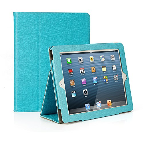 RUBAN Folio Case for iPad 2 3 4 (Old Model) 9.7 inch Tablet - [Corner Protection] Slim Fit Smart Stand Protective Cover Auto Sleep/Wake, Sky Blue