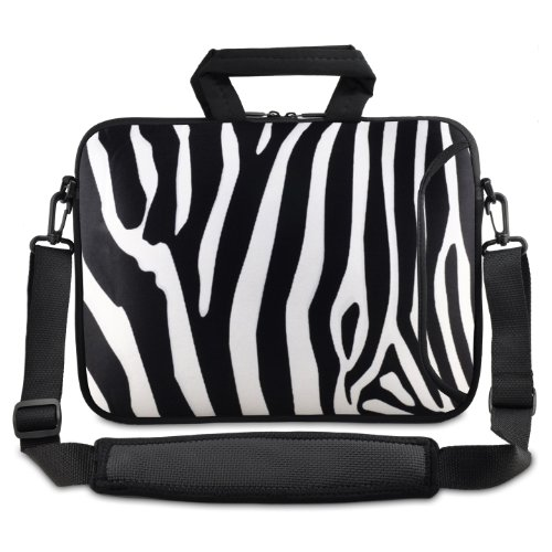 ChaoDa Zebra 24,6 cm 25,4 cm 25,7 cm Ordinateur Portable Netbook Sac bandoulière Étui de transport pour tablette Amazon Kindle DX/Apple iPad 2 3/Lenovo S10//Acer Aspire One/Asus Eee/HP/DELL Inspiron/min/Toshiba/Samsung/Sony