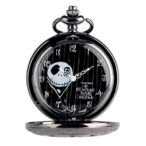 WHSW Reloj de Bolsillo Collar con Cadena, Reloj de Bolsillo Vintage Bronce/Plata/Negro Doctor Who Reloj de Bolsillo de Cuarzo Hombres Mujeres Collar Colgante con Cadena Regalo de cumpleaños