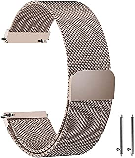 Stainless Steel Loop Strap Wrist Band For Smart Watch Samsung Galaxy Watch 46mm / Huawei GT2 / Gear S3 Frontier and Classi...