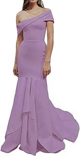 Women's Mermaid Prom Evening Dresses Adjustable Off Shoulder Formal Wedding Gowns