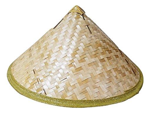 Bamboo Cone Sun Hat Asian Vietnamese Japanese Straw Farmer Costume Accessory