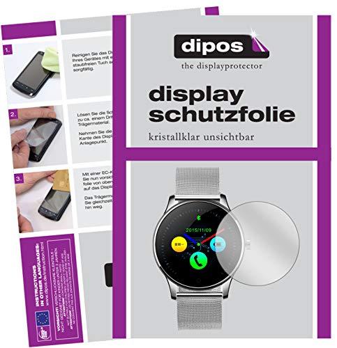 dipos I 6X Schutzfolie klar kompatibel mit DIGGRO K88H Smartwatch Folie Displayschutzfolie