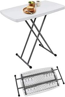 Todeco - Table Pliante Ajustable, Table Compacte et Pliable - Matériau: Acier - Surface supérieure: 76 x 50 cm - 76 x 50 x...