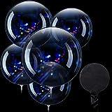 30 Globos de Burbuja Transparentes Globos de Bobo de Cumpleaños de Cristal para Fiesta Cumpleaños Boda Navidad Interior Exterior (20 Pulgadas)