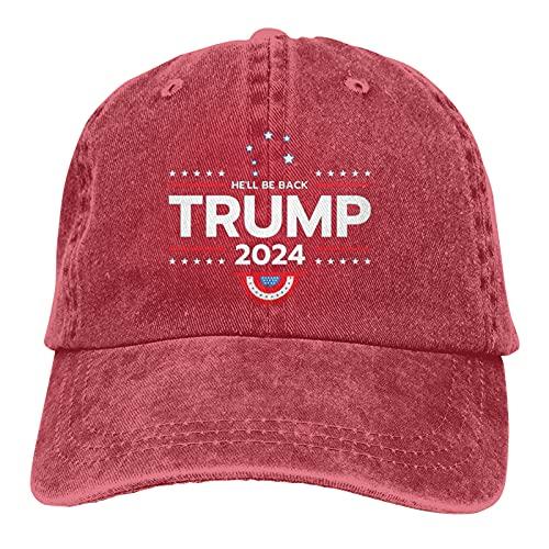 Gorra de béisbol unisex Trump 2024, ajustable, color rojo