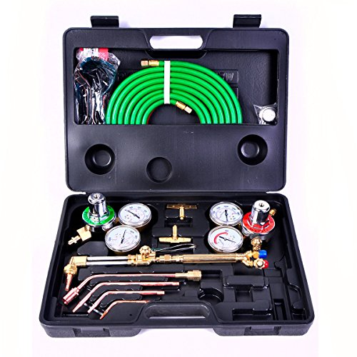 Gas Welding Cutting Kit Oxy Acetylene Oxygen Torch Brazing Fits