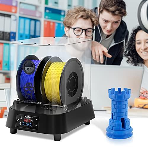 PaNt Caja Secadora de Filamento Para Impresora 3D, 100W Mantiene el Filamento Seco Durante la Impresión 3D Compatible con humedad monitor Compatible con Filamento de 1,75 /2,85/3,00 mm