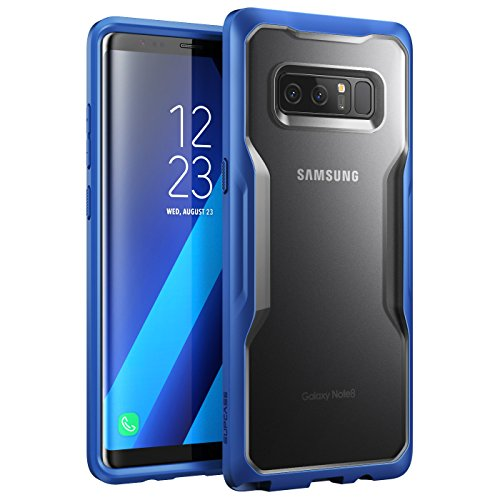 SUPCASE Unicorn Beetle Series Case Designed for Galaxy Note 8, Premium Hybrid Protective Clear Case for Galaxy Note 8 2017 Release (Frost/Navy)